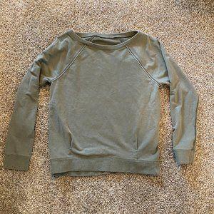 Sage/Khaki Green Crew Neck lululemon Sweater Sz 6